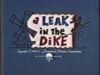 A Leak in the Dike Title Card