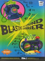 Blasting the Sound Barrier Print ad Nick Mag September 1998