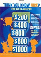 Nickelodeon jeopardy print advertisement