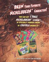 Nickelodeon Crayola print ad