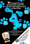 Blue's Clues Print Advertisement