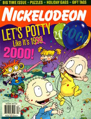 Nickelodeon Magazine cover December 1999 Rugrats Millennium