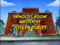 Arnold's Room Title Card