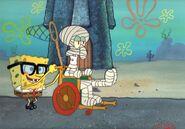 SpongeBob Jellyfishing cel