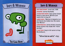 Impy and Wormer trading card Nick Mag comic