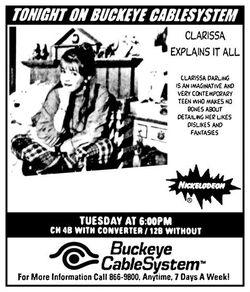 1997 Buckeye CableSystem Clarissa Explains It All ad