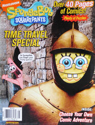 Nickelodeon Comics magazine cover SpongeBob Time Travel Special 2009