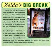 Zeldas Big Break poster ad Nickelodeon Magazine Feb March 1995