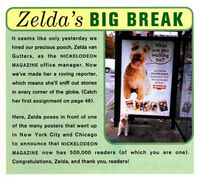 Zeldas Big Break poster ad Nickelodeon Magazine Feb March 1995