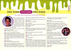 Nickelodeon Magazine Holiday 1993 John Crane Roundhouse interview