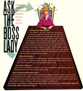 Ask the Boss Lady Geraldine Laybourne Nick Mag Feb March 1994