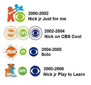 Nick & Nick jr on CBS 2000-2006