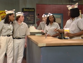 Good Burger employees in the sketch