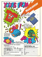 Nickelodeon Merchandise Advertisement