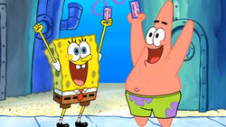 Sponge Bob and Patrick Abrsive Side