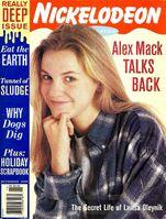 Nickelodeon Magazine cover November 1995 Larisa Oleynik Alex Mack