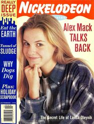 Nickelodeon Magazine cover November 1995 Larisa Oleynik Alex Mack