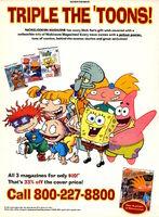 Nicktoons Magazine advertisement Nickelodeon Magazine June July 2002