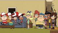 Leni and her gang outnumbering baseballers