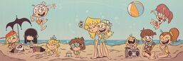 Loud House summer vacation picture