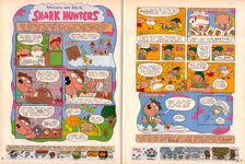 Grampa Julie Shark Hunters NickMag comic Aug 2004