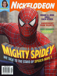 Nickelodeon Magazine cover August 2004 Spider-Man 2