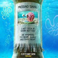 Missing Snail SpongeBob poster