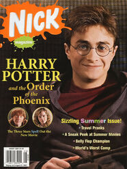 Nick Magazine cover Aug 2007 Harry Potter Order Phoenix