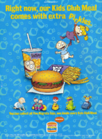 Rugrats toys Burger King Kids Club print ad