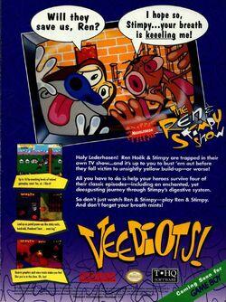 Game Boy Ren & Stimpy Veediots! print ad