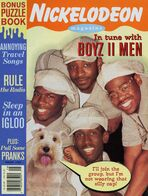 Nickelodeon Magazine cover August 1995 Boyz II Men