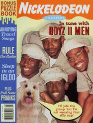 Nickelodeon Magazine cover August 1995 Boyz II Men