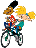 Arnold and Gerald on Bikes