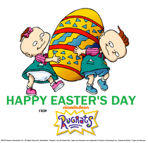 Phil and Lil DeVille of Rugrats Easter 2019