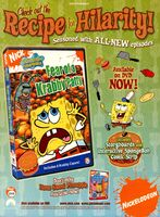 SpongeBob Fear Krabby Patty DVD print ad NickMag June July 2005