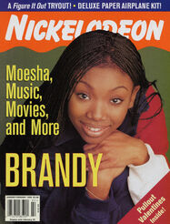 Nickelodeon Magazine cover Jan Feb 1999 Brandy