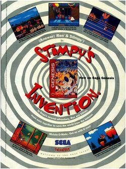 Sega Genesis Ren & Stimpy Ren's Invention print ad