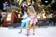 Aisha and Stella Winx walk-around characters