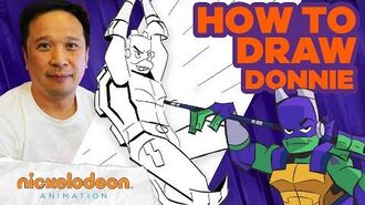 How to Draw Donnie ✍️ Draw Along w Alan Wan 🎨 Rise of the TMNT