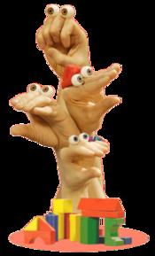 Oobi Grampu Uma Kako Noggin Nick Jr. Hand Puppet TV Show