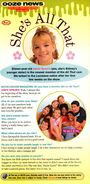 Jamie Lynn Spears All That interview Nick Mag Oct 2002