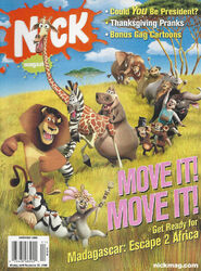 Nickelodeon Magazine cover Nick Mag November 2008 Madagascar 2