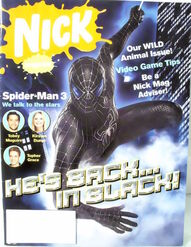 Nickelodeon Magazine cover May 2007 Spider-Man 3