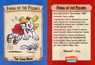 Fiona of the Felines trading card Nick Mag comic