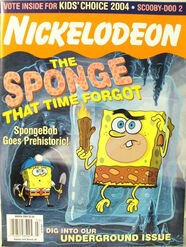 Nickelodeon Magazine cover March 2004 Sponge Bob