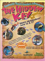 SeaWorld Busch Garden Adventures Print ad Nick Mag June-July 1998