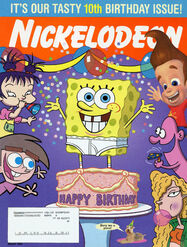 Nickelodeon Magazine cover Aug 2003 10th Birthday Issue subscriber