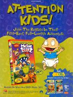 Rugrats Movie VHS DVD print ad NickMag April 1999