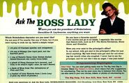 Ask the Boss Lady Geraldine Laybourne Nick Mag September 1995