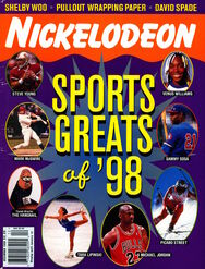 Nickelodeon Magazine Cover December 1998 Sports Greats